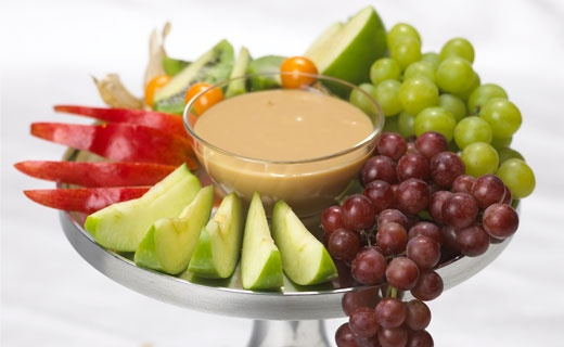 "Maple Spice Fruit Dip. Make it ""skinny"" with with low-fat Greek yogurt."