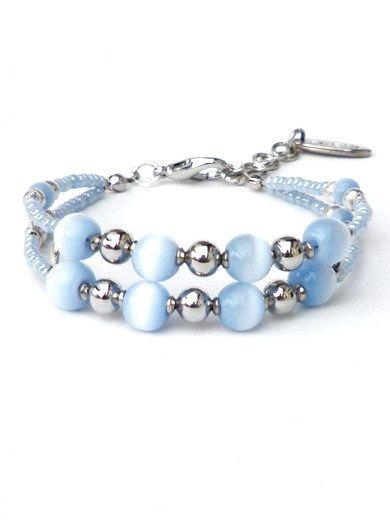 Blauwe armband, tijgeroogkralen, rocailles van Per Elle Sieraden & Accessoires op DaWanda.com