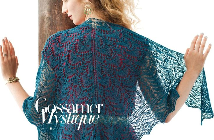 Трикутна мереживнв шаль з Vogue Knitting Holiday 2013