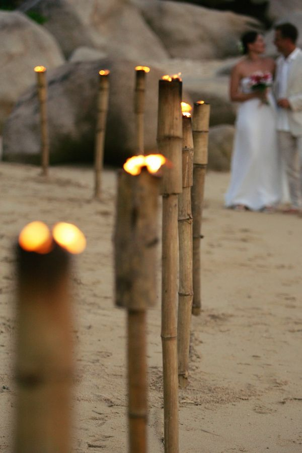 beautiful for a night wedding on the beach