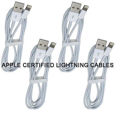 4x 3ft Apple MFI CERTIFIED Lightning Cable for iPhone 5 5c 5s 6 6s 6+ SE Charger