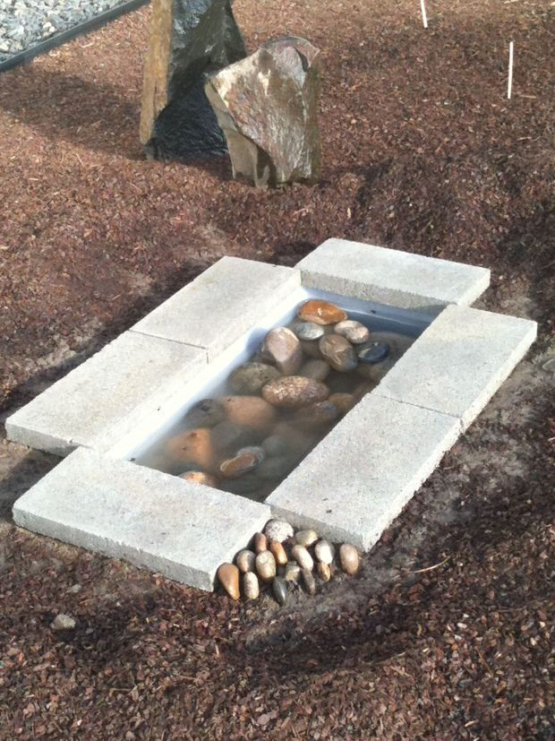 DIY contemporary water feature