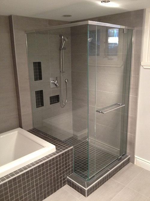 Séparation baignoire douche