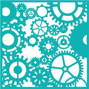 Silhouette Online Store - View Design #29694: gears and cogs overlay