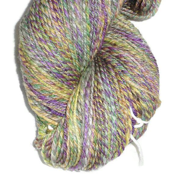 Luxury Handspun Hand Dyed 3-ply Soft Superwash Merino Bamboo Nylon Hand Dyed Yarn