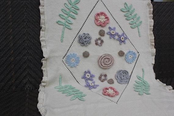 Bridal Shawl Pastel Knit Wedding Wrap with by evelynWpolitzerKnits, $400.00