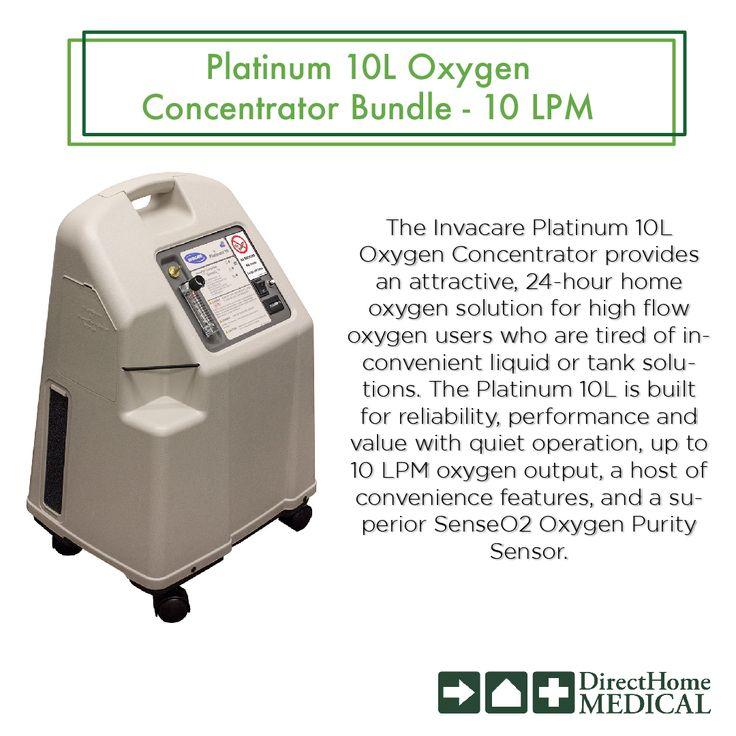 The Invacare Platinum 10L Oxygen Concentrator provides an