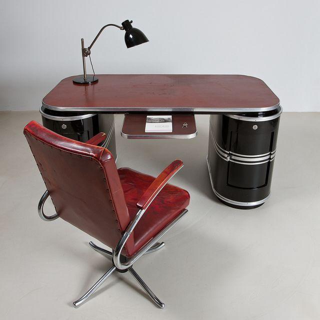 German Streamline Modernism office interior design by ZEITLOS - BERLIN, via Flickr