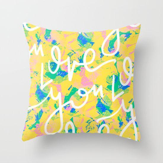 luv ya Throw Pillow