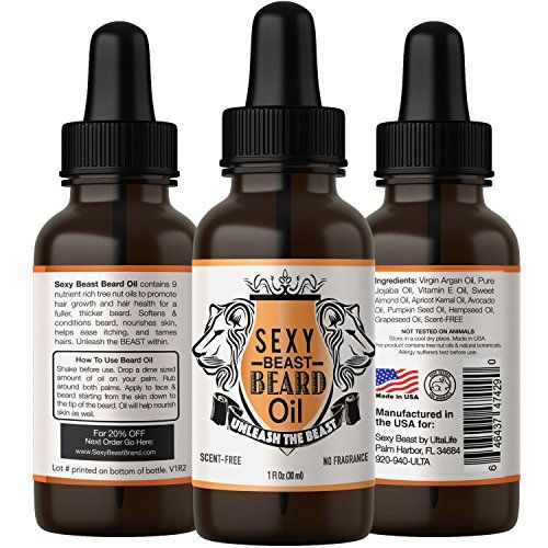 1 Best Beard Oil For Men  Natural Unscented  Proprietary 9 Oil Blend Stimulates Facial Hair Beard  Mustache Growth  Repairs Frizzy Hair  Eliminates Dry Itchy Skin For A Thicker Fuller Sexy Beard -- Find out more about the great product at the image link.