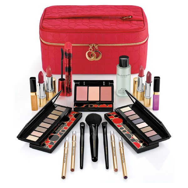 Elizabeth Arden Holiday Blockbuster (Worth £349) (140 CAD) ❤ liked on Polyvore featuring beauty products, makeup, brush set makeup, elizabeth arden cosmetics, eye pencil makeup, elizabeth arden and eye makeup remover