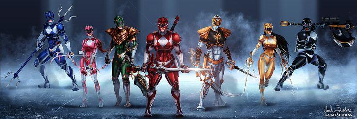 Go Go Power Rangers!! by IsaiahStephens.deviantart.com on @DeviantArt