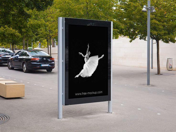 City Light Poster Outdoor Advertising Mockup Free Mockup Outdoor Advertising Mockup Outdoor Advertising Poster Mockup Free