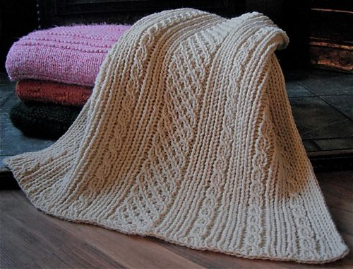 Free Loom Knitting Patterns For Blankets : Ravelry: Easy Aran Baby Blanket, free pattern by Faith Schmidt Knitting: Ba...