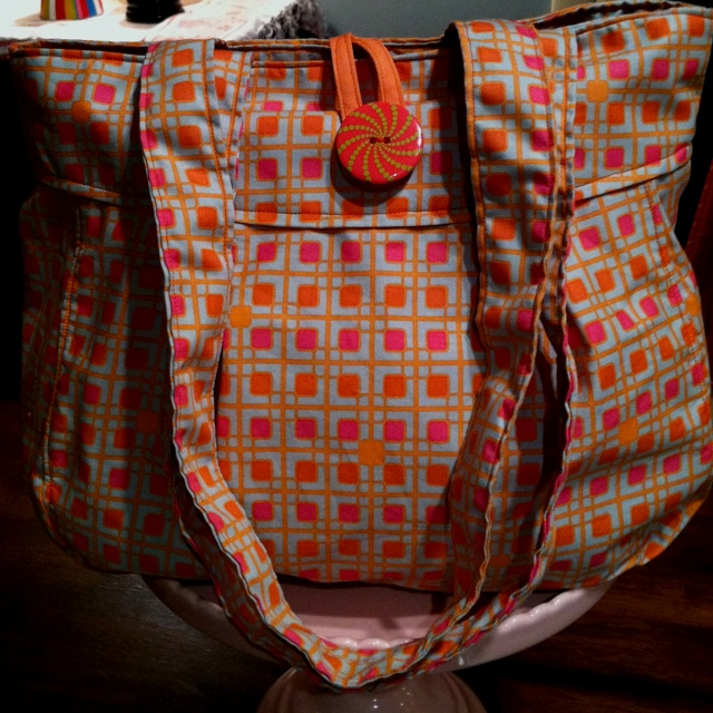 Foldaway Tote - Brake Lights Plaid by VIDA VIDA YSQERE