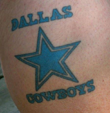 Cowboy Star Tattoo Flaming dallas cowboys star tattoo design ...