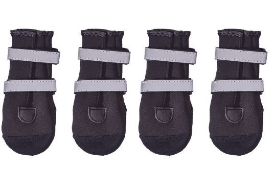 PAWSH PADS - DOG BOOTS that are so easy to get on! Come in basic black