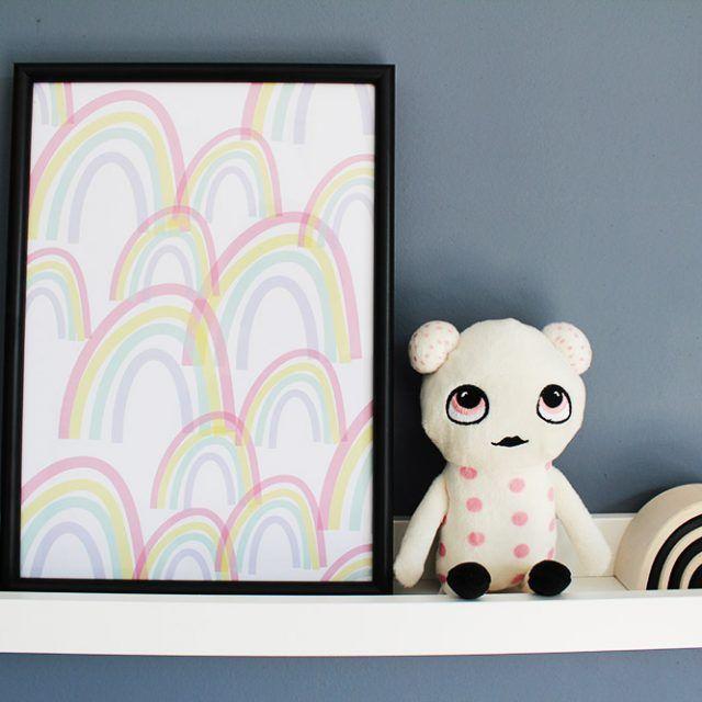 printbare poster kinderkamer regenboog #printable #kidsroom #rainbow #kidsdecor #poster #interior #interieur