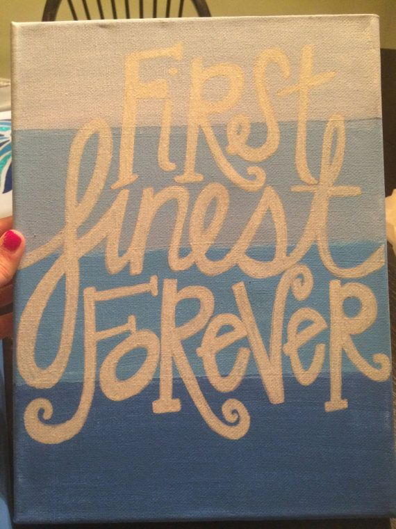 Alpha Delta Pi First Finest Forever Canvas by GeorgiaPeaches1313