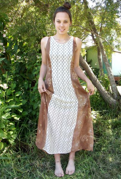 PATTERNED AND LACE FIT & FLARE MAXI DRESS WITH LACE-UP BACK from www.daredarla.com