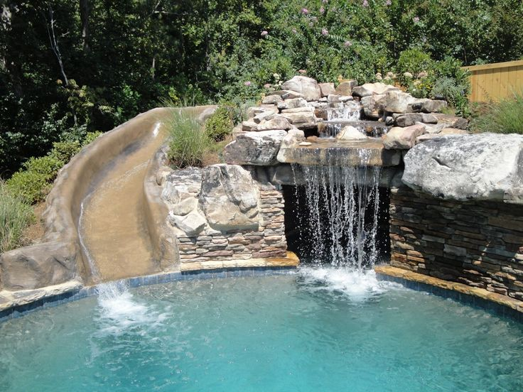 Best 25 pool slides ideas on pinterest swimming pool slides pool with slide and backyard pools - Swimming pool designs with slides ...