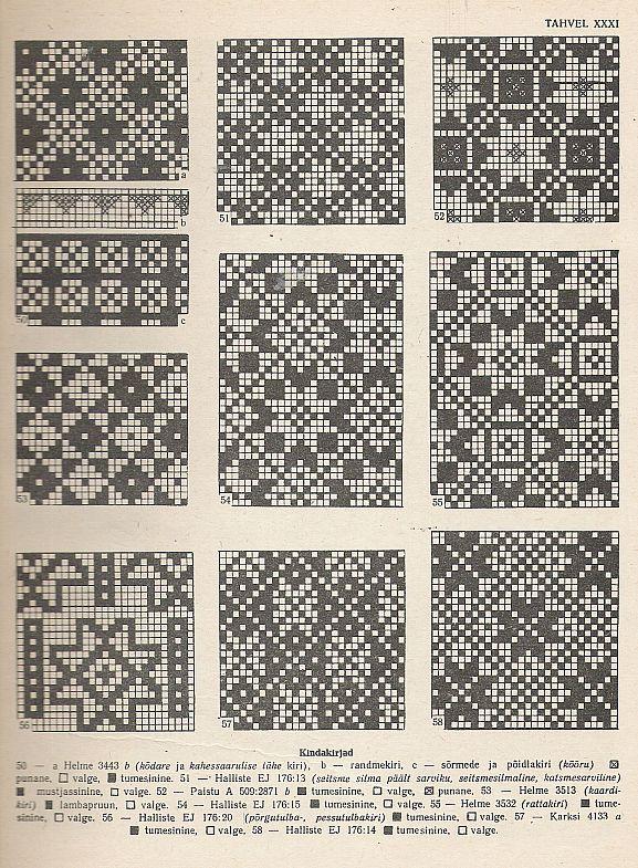 Estonian knitting patterns.
