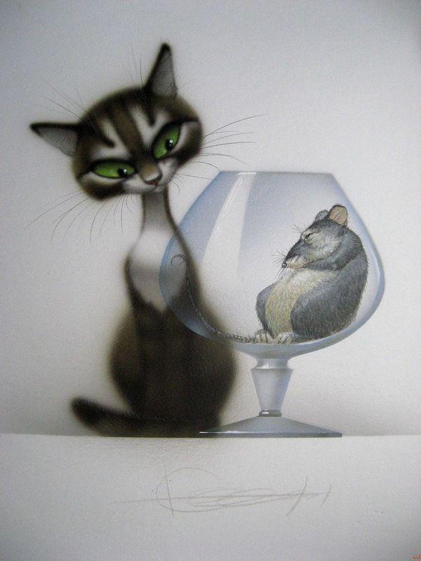Прикольные картинки, смешные фото и рисунки кошек