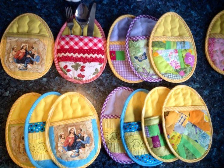 patchwork - kieszonka na sztućce, słodycze, serwetki