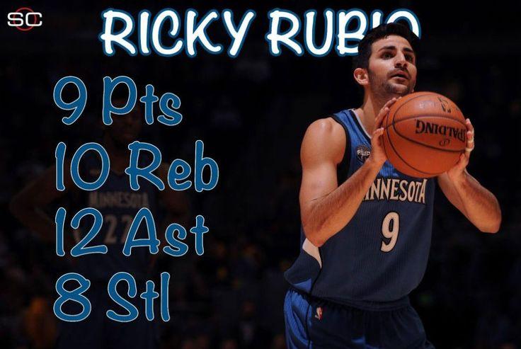 Ricky Rubio, cerca del cuadruple-doble