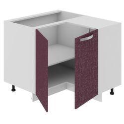 Шкаф нижний нестандартный угловой с углом 90° НнУ90_72_2ДР(НнУ) Цвет: Баклажан Кухня Сингапур