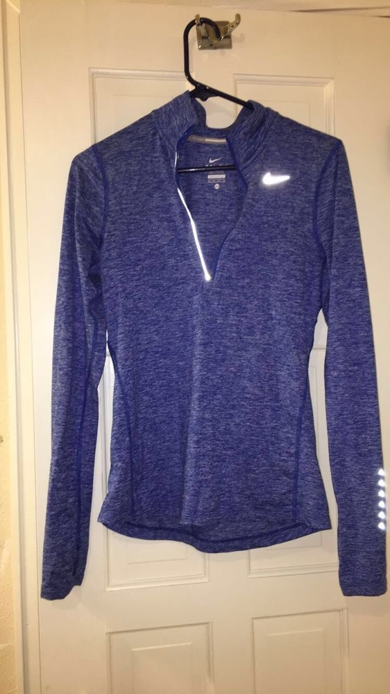 b39510d03e26 Women s Nike Dri-Fit Running Thumb Holes 1 4 Zip Pullover XS Blue  fashion   clothing  shoes  accessories  womensclothing  activewear (ebay link)