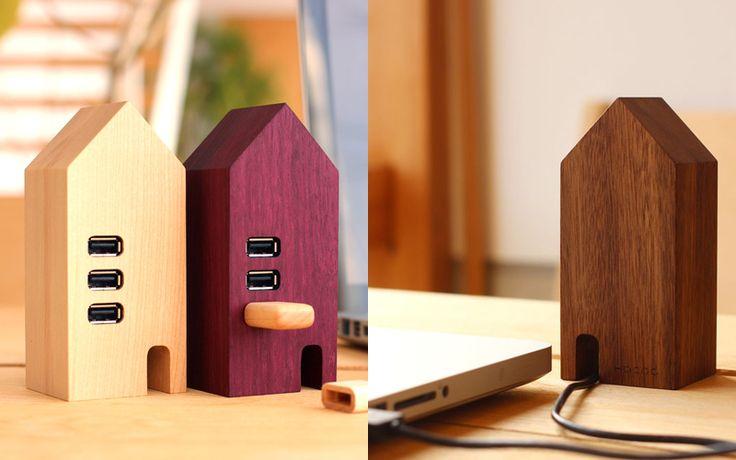 USBをつなぐ小さな家 USBハブ House