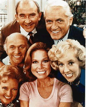 "The Mary Tyler Moore Show -- so funny! I loved when Lou Grant flew out of his office when Murray reported to him that newsman Ted was ""praying on the air""."