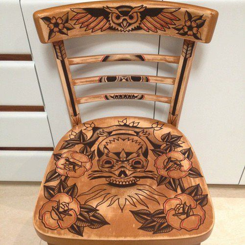 tattoo chair!                                                                                                                                                                                 More