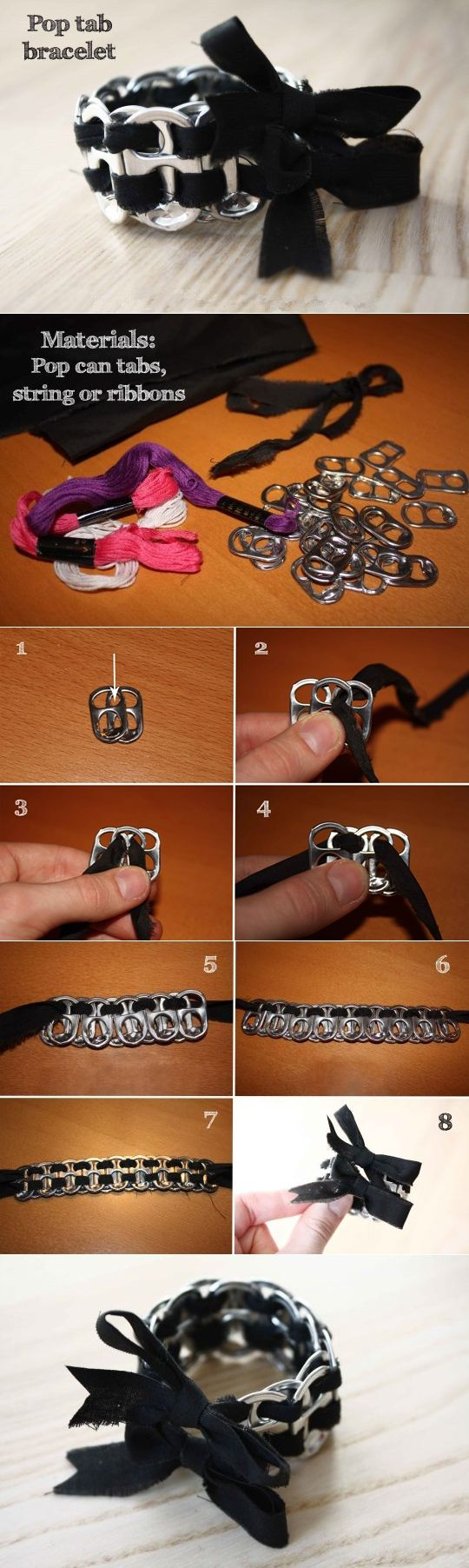 Pop tab bracelet tutorial