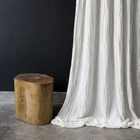 Rideau en étamine de lin / Linen muslin curtain