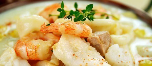 Sopa de maíz con camarones - Cocina y Vino