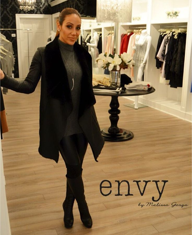 Loving this coat available at @envybymg & of course jewelry by yours truly also available at envy