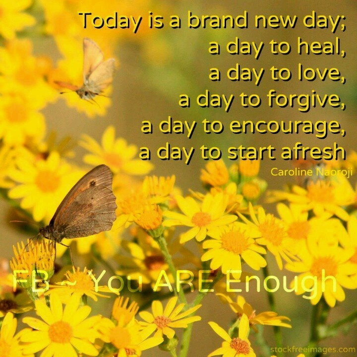 Everyday Is A Brand New Day Quotes: A Brand New Day Quotes. QuotesGram