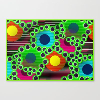 Serie dot # 25 Stretched Canvas by Mittelbach Marenco Florencia - $85.00