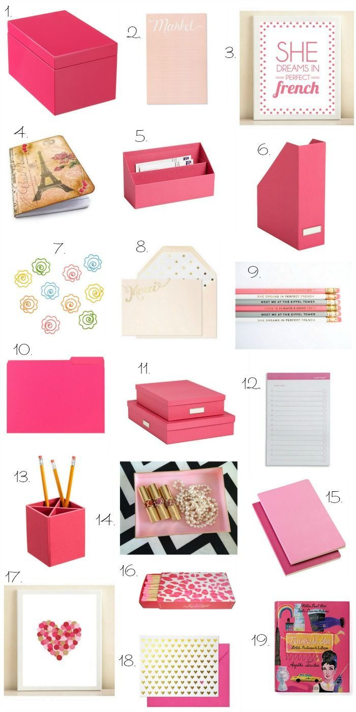 Hot Pink Desk Accessories - Home Office Furniture Images Check more at http://michael-malarkey.com/hot-pink-desk-accessories/