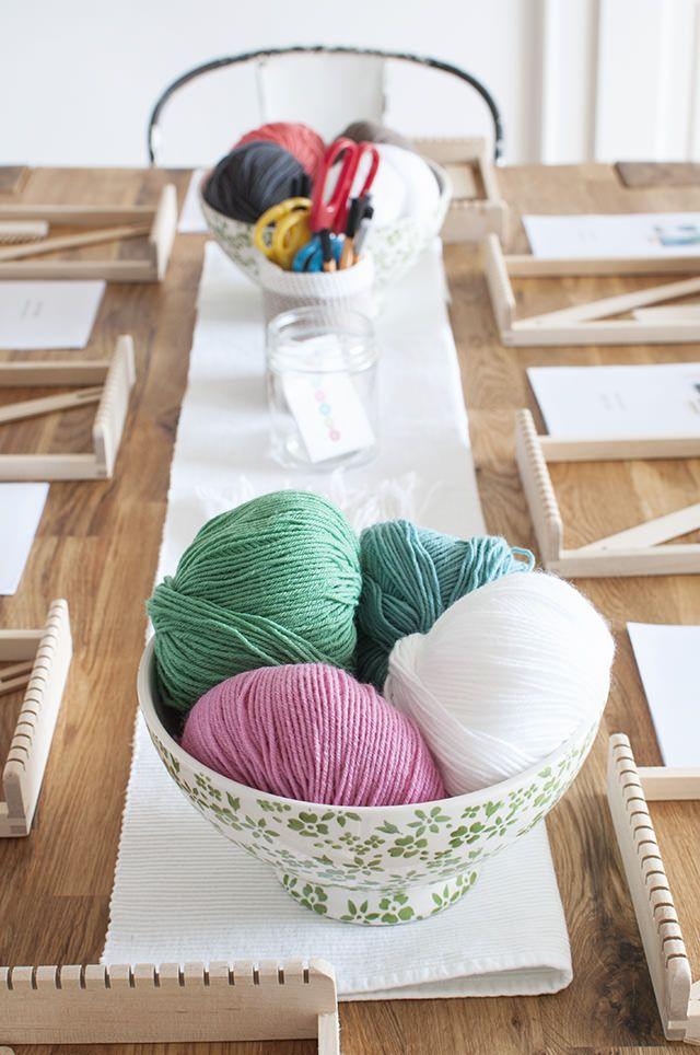 Taller de Mini telares en nuestro club Munich Makes - Weaving workshop in our Club Munich Makes