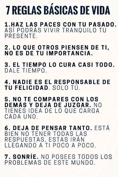 """""""7 reglas básicas de la vida...   ( frases )"""