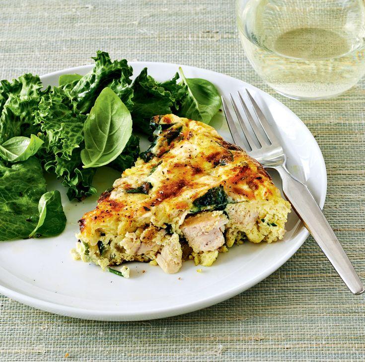 Turkey, Asiago and Spinach Frittata