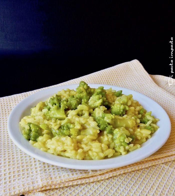 Di pasta impasta: Risotto con broccolo romano e curcuma