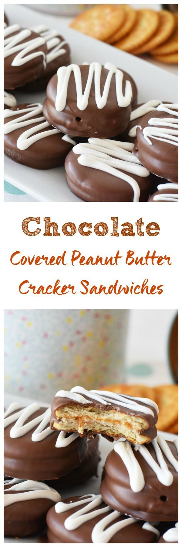 Chocolate Covered Peanut Butter Cracker Sandwiches- A delicious homemade candy bar treat that is the perfect marriage of chocolate & peanut butter goodness. via /savvysavingcoup/ #AD #RITZpiration In-store demos at /walmart/ starting 4/15th! You could win prizes. See post for details.