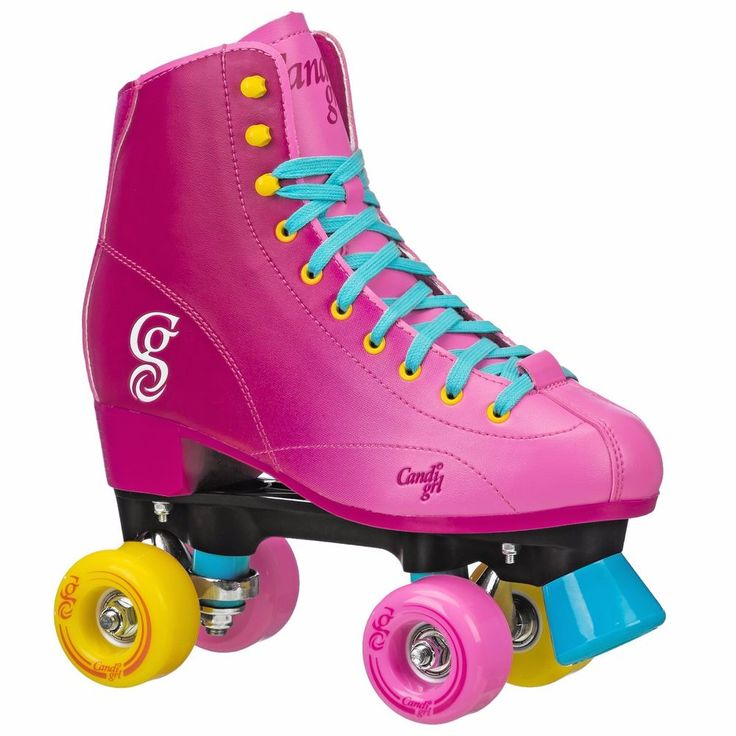 Brand New Candi Girl Recreational Indoor Outdoor Roller Skate Pink, Blue, Yellow #Rollerderby