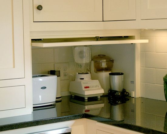 Appliance Garage Kitchen Cabinet Design, Pictures, Remodel, Decor and Ideas