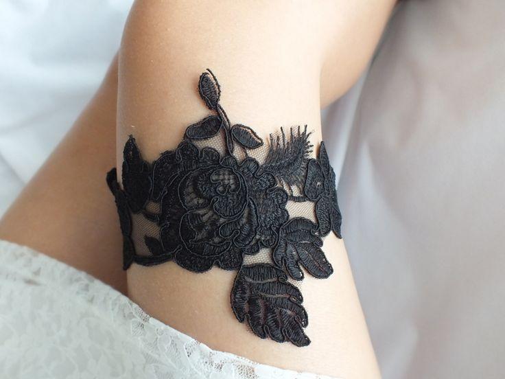 black garter, Wedding Garter, Handmade garters,  from Weddinggloves by DaWanda.com