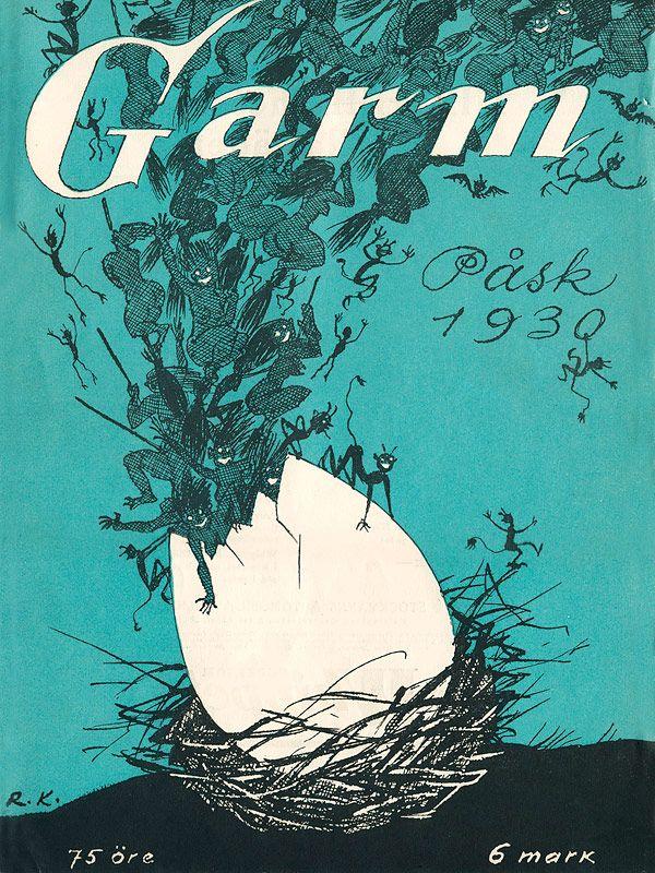 Rudolf Koivu: Garm-lehden kansi, 1930